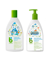 babyganics Fragrance Free Bubble Bath + Moisturizer Bundle