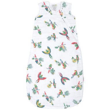 Perlimpinpin 0.7 Tog Cotton Muslin Sleep Bag Parrots