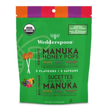 Wedderspoon Organic Manuka Honey Pops Variety Pack