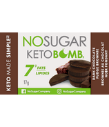 No Sugar Company Keto Bomb Dark Chocolate Fudge Brownie
