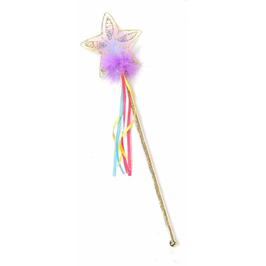 Great Pretenders Glitter Rainbow Wand Multi Pastel Gold
