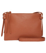 ela Double Crossbody Pebble Tan
