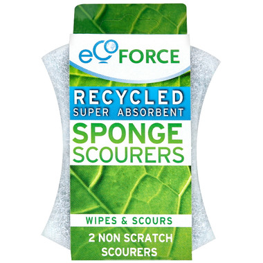 EcoForce Recycled Super Absorbent Sponge Scourers