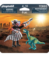 Playmobil duoPack vélociraptor avec attrape-dino