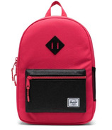 Herschel Supply Heritage Youth Backpack Rouge Red and Black Sparkle