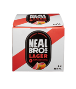 Neal Brothers Lager Non-Alcoholic Beer Grapefruit