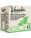 Veeda 100% Natural Cotton Tampons with Applicator