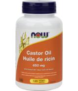 NOW Foods huile de ricin 650 mg
