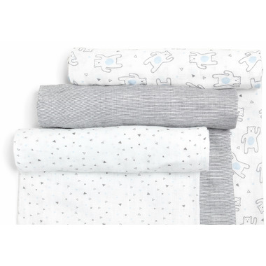 Snugabye Muslin Swaddles Dream Bear Collection