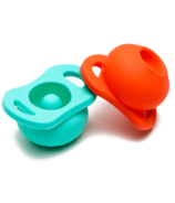 Doddle & Co. Pop Pacifier Twin Pack In Teal Life & Corally Yours