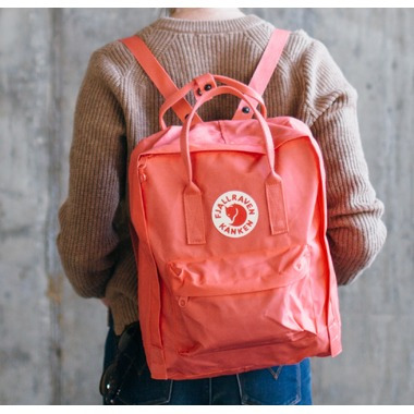 Fjallraven Kanken Backpack Frost Green & Peach Pink