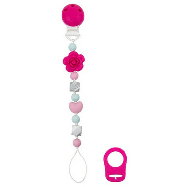 Kushies SiliBeads Silicone Pacifier Clips Flower