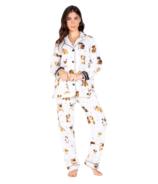 PJ Salvage Flannels Puppies PJ Set Ivory