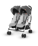 UPPAbaby G-Link Double Stroller Jordan Charcoal Melange & Silver