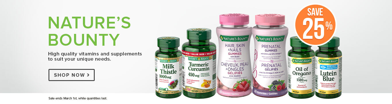 Save 25% on Nature's Bounty