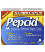 Pepcid AC Maxium Strength Tablets
