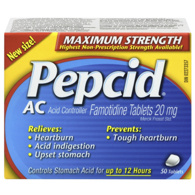 Pepcid AC Maxium Strength Tablets