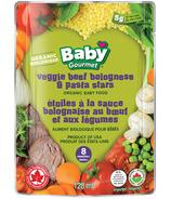 Aliments pour bébés Baby Gourmet Veggie Beef Bolognese et Pasta Stars