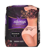 Always Discreet Boutique Incontinence Underwear Peach Large