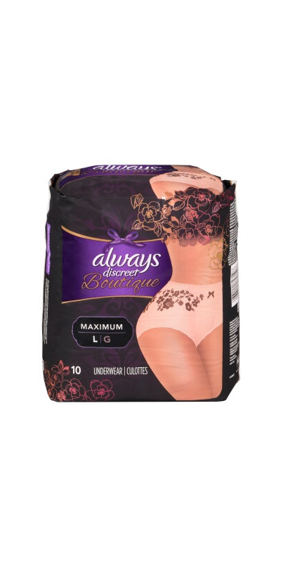fba2931c8 Buy Always Discreet Boutique Incontinence Underwear Peach Large from Canada  at Well.ca - Free Shipping