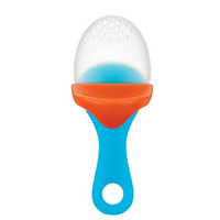 Boon Pulp Silicone Teething Feeder Blue & Orange