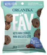Organika FAV Keto Mini Cookies Double Chocolate