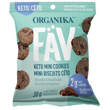 Organika FAV Keto Mini Cookies Double Chocolate