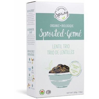 Second Spring Organic Sprouted Lentil Trio