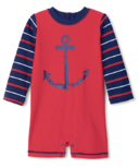 Hatley Nautical Anchor Baby One-Piece Rashguard