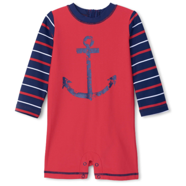Hatley Nautical Anchor Baby One-Piece Rashguard