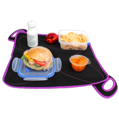 FlatBox Lunch Bag Original Black Purple