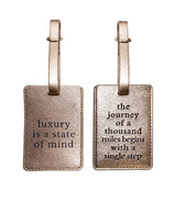 MYTAGALONGS Definitions Rose Gold Luggage Tags