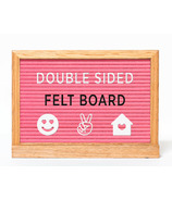 Amped & Co. Double Sided Felt Letter Board Pink