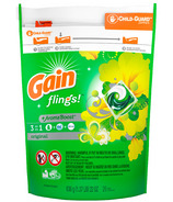 Gain Flings Liquid Laundry Detergent Pacs Original