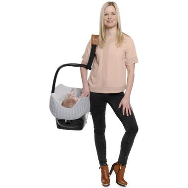 Cocobelt Car Seat Carrier Strap Black & Cognac
