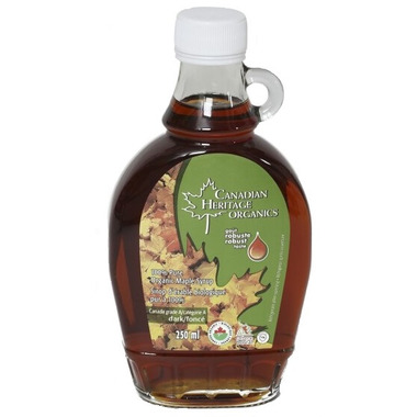 Canadian Heritage Organics Dark Maple Syrup Small