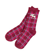 Hatley Women's Crew Socks Moose Plaid