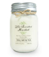 The Scented Market Soy Wax Candle You, Me & Tea