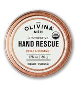 Olivina Men Hand Rescue Cream Cedar & Bergamot