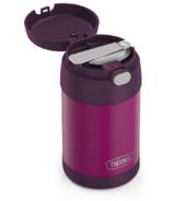 Thermos Pot à nourriture FUNtainer en acier inoxydable avec cuillère pliable Rouge Violet