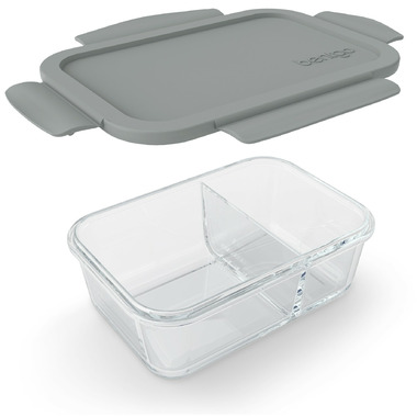 Bentgo Small Glass Container with Leak-Proof Lid Gray