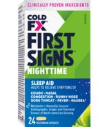 COLD-FX premiers signes la nuit