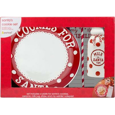 Pearhead Santa\'s Cookie Set