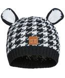 Kombi The Cutie Infant Hat Black Houndstooth