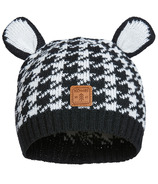 Kombi The Cutie Infant Hat Black Houndstooth