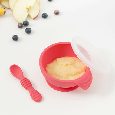 Bumkins Silicone First Feeding Set Red