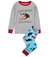Hatley Little Blue House Kids PJ Set Wild About Christmas