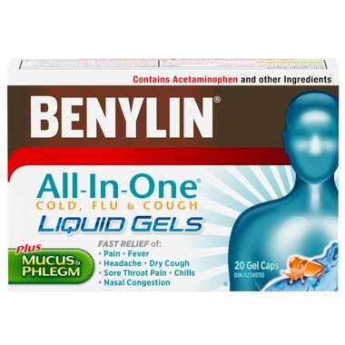 Benylin All-In-One Cold & Flu Liquid Gels