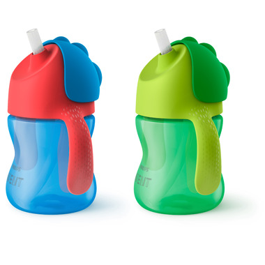 Philips AVENT My Bendy Straw Cup 7oz Double Blue and Green
