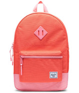 Herschel Supply Heritage Backpack Youth Hot Coral & Flamingo Pink
